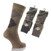 Mens Lambs Wool Blend Short Socks