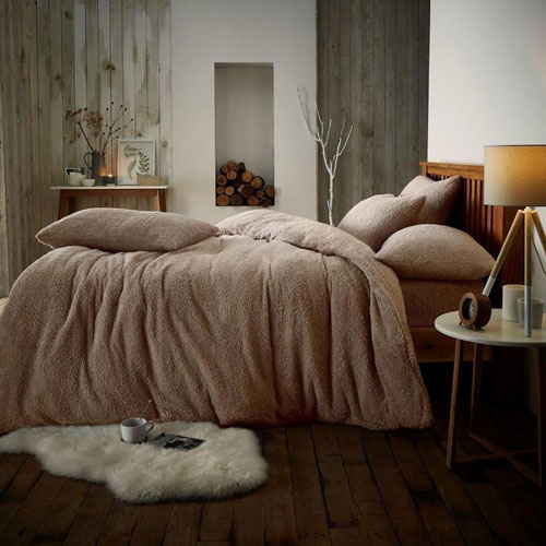 Super Soft Teddy Feel Duvet Set Mink
