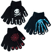Boys Thermal Magic Skull & Crossbones Gripper Gloves