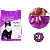 Lavender Scented Super White Clumping Cat Litter
