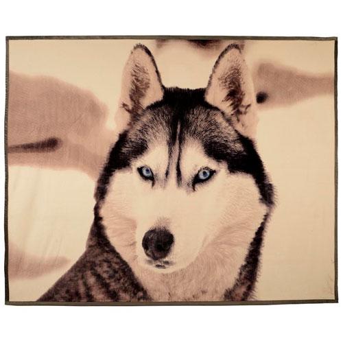Faux Mink Animal Blanket Wolf