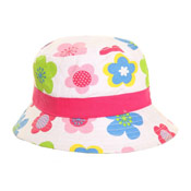 Girls Sun Hats Flowers/Spots