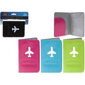 Neon Colour Passport Cover With Plane Logo