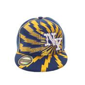 New York Snapback Baseball Cap Gold Lightning Design
