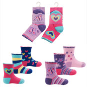 Baby Girls Novelty Socks Butterfly and Heart