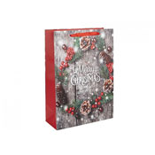 Merry Christmas Glitter Gift Bag Large