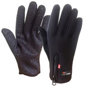Adults Winter Sport Gloves With Gripper Palm Black