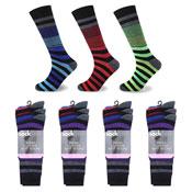 Socksation Mens Luxury Suit Socks Italian Stripe