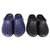 Clog Style Sandals 6-8 Black/Navy