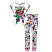 Ladies Marvel Comics Pyjama Set