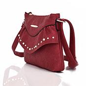 Sansa Studded Crossbody Bag Red