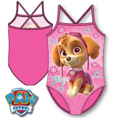 Girls Paw Patrol Skye Swimming Costume