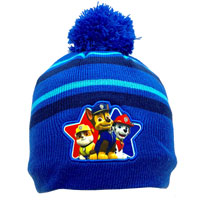 Official Boys Paw Patrol Knitted Hat With Pom Pom