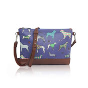Mixed Dog Pattern Crossbody Bag Blue