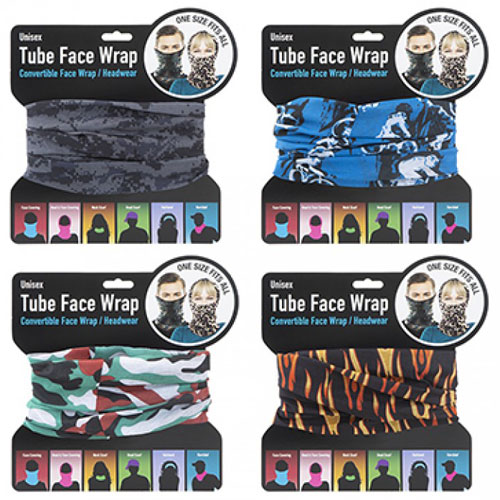 Unisex Tube Face Wrap Dark Prints