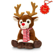 Christmas Reindeer With Scarf 20CM