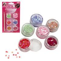6 Piece Glitter Stones Nail Decorating Kit