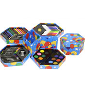 Art Colours Set In Hexagonal Box