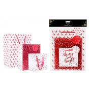 Christmas Pack Of Three Gift Bags Red