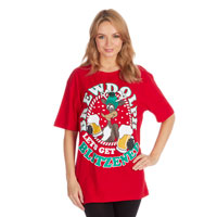 Adults Xmas Print T-Shirt