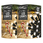 Christmas 20 LED String Lights White