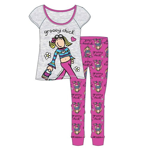 Ladies Groovy Chick Pyjama Set