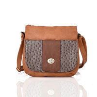 Carrie Ann Pocket Cross Body Bag Biege