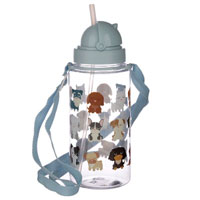 Childrens Reusable Water Bottle Dog Squad
