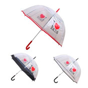 I Love Rain Transparent Umbrella