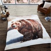 Brown Bear Mink Faux Throw