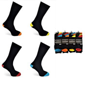 Mens Authentic Computer Socks Bright Heel & Toe