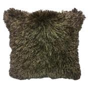 Lyon Chocolate Furry & Sparkle Cushion Cover