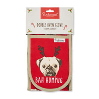 Bah Humpug Christmas Double Oven Glove