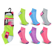 Ladies Low Cut Cushion Sports Trainer Socks
