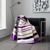 Faux Mink Throws Bertie Stripe Plum
