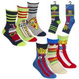 Boys 3 Pack Design Fun Food Socks