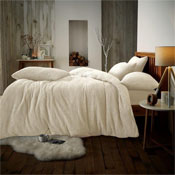 Super Soft Teddy Feel Duvet Set Cream