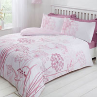Country Meadow Blush Reversible Duvet Set