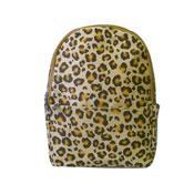 Leopard Front Pocket Backpack Brown