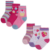 Baby Novelty Design Socks Cupcakes/Fruits