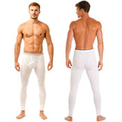 Haigman 2 pack Long Trouser Thermal Pants White
