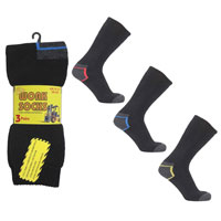 Long Lasting Work Socks With Coloured Heel
