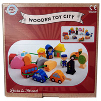 Wooden City Toy Beads