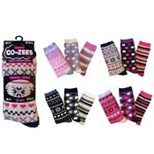 Ladies Fairisle Design Thermal Socks