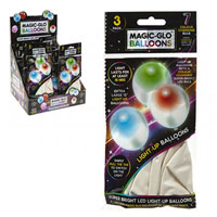 3 Pack White Light Up Balloons