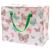 Butterfly Printed Shopping Laundry Bag Large