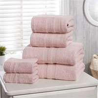 Natural Cotton Camden Bath Sheets Pink