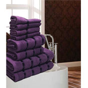 Luxurious Egyptian Purple 8 Piece Towel Bale
