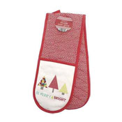 Christmas Be Merry & Bright Double Oven Glove