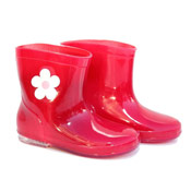 Infant Red Wellies with Flower
